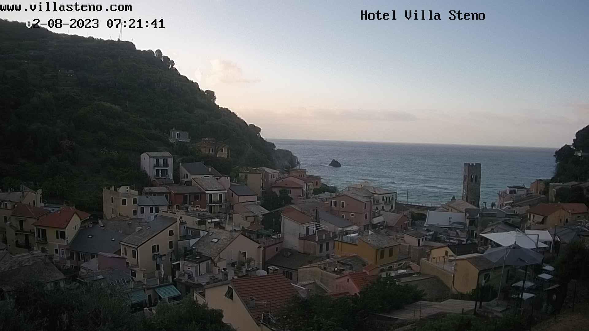 Webcam live Hôtel Villa Steno - Monterosso al Mare - Cinque Terre - Italie